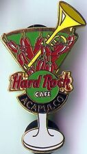 Hard Rock Cafe ACAPULCO 2002 MARTINI GLASS Series PIN Peppers Trumpet HRC #14954