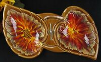Vtg Mid-Century Maurice of Cal. California U.S.A. Ceramic Art Drip Glaze Tray