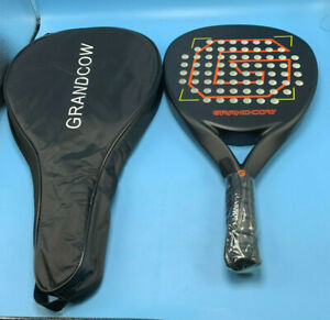GRANDCOW Tennis Paddle/Padel Racket Carbon Fiber 2 Face in 1 Surface Pop Paddle