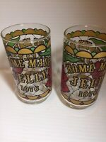 Set of Vintage Libbey HOME MADE JELLY 1776 - 1976 Pattern Stained Glass