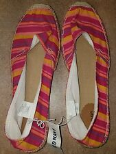 NEW OLD NAVY STRIPED ESPADRILLE CANVAS SUMMER SHOES SZ 10