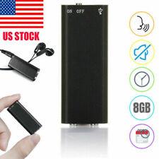Mini Spy Audio Recorder Voice Listening Device 96 Hours 8GB Bug NEW US