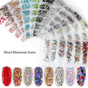 1728pc Diamond Nails Art Rhinestones For 3D Nail Art Rhinestones Decoration Gems