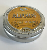 Vintage Altoids Tin Tangerine Sours Collectors Discontinued Empty With Some Rust