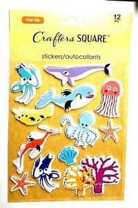 SEA ANIMAL Fish - Crafter's Square 3D Scrapbook Craft Sticker Embellishment