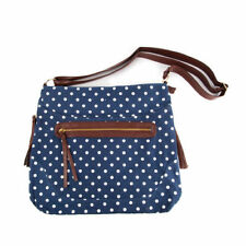Large Blue and White Polka Dot Cross/Body Bag with Adjustable Shoulder Strap new