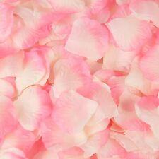 Pink white Silk Flower Rose Petals Wedding Party Table Decoration Venue Decor