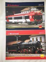 2 x A4 Rivarossi & Electrotren HO 1:87th Model Railway colour catalogues 2017