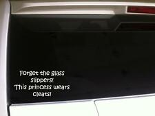 """Forget Glass Slippers Princess Cleats Vinyl Car Decal 6"""" *F30 Sports Softball"""
