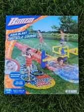Banzai Aqua Blast Obstacle Course Water Slide 16' Fun for Kids Outdoor Toys