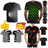 Funny Hypnosis 3D T-Shirt Men Women Colorful Print Casual Short Sleeve Tee K