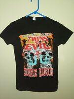 Rob Zombie Marilyn Manson From Hell Twins Of Evil Tour 2012 Black T-Shirt M