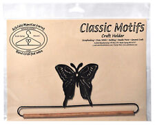 Classic Motifs 7 1/2 Inch Butterfly With Dowel Charcoal Craft Holder