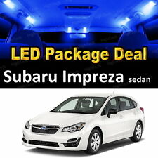 6x Blue LED Lights Interior Package Deal For 2004 - 2017 2018 Subaru Impreza