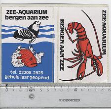 Decal/Sticker - Zee-Aquarium Bergen aan Zee A