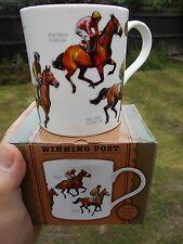 Horse Racing Fine China Mug  Kauto Star Best Mate Nijinsky Red Rum Shergar Yeats