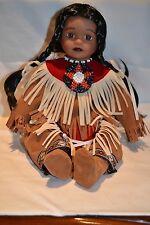TIMELESS COLLECTIONS + NATIVE INDIAN GIRL + DOLL + BRAND NEW IN BOX + COMPLETE
