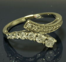 Ladies 10k White Gold 1/2 Cttw Diamond Journey Twist Estate Ring