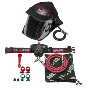 DeVilbiss PROV650 Complete Air Fed Visor with Wiastbelt