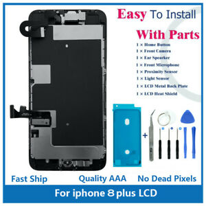 """iPhone 8 Plus 5.5"""" Full Screen Replacement LCD Front Camera Speaker Home Button"""