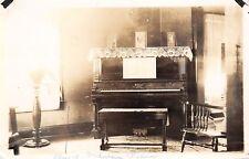 Real Photo~Victorian Parlor~Aunt Melva's Schimmel Piano~Faribault MN~c1912