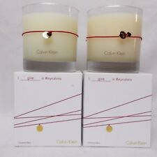 Calvin Klein Cinnamon Berry Scented Candle 7.5 Oz Lot of 2 Candles