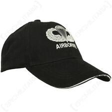 Nero Us Para ALI Cappellino-Cappello da sole AMERICANO picco Soldato Militare dell'Esercito