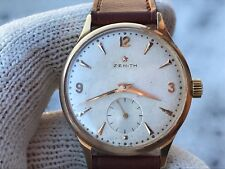 VINTAGE ZENITH SOLID GOLD 18K MANUAL CAL.40 MENS 35mm JUST SERVICED SWISS MADE