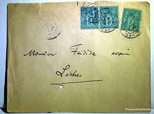 Sage  sur lettre oblitération  LOCHES     - 1895  201ca140