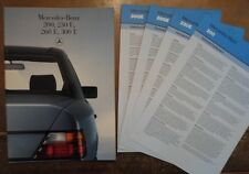 MERCEDES BENZ 200 230E 260E 300E 1986 UK Mkt Sales Brochure + Specs