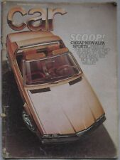 CAR 09/1976 featuring Reliant Scimitar GTE, Lancia Beta HPE, Mercedes, Citroen