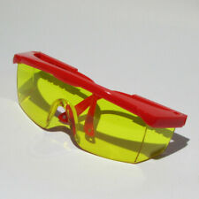 Spectrum Safety Glasses Yellow Polycarbonate Lens With Red PVC Frame