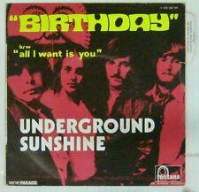 Interprètes Beatles 45 tours Underground sunshine Birthday 1969