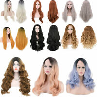 Women Cosplay Long Hair Full Wig Natural Curly Wavy Straight Synthetic Hair Wig