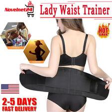 Lady Waist Trainer Belt Sauna Fitness Tummy Slimmer Corset Body Shaper Weight US