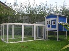 Chicken Coop Cat Enclosure Rabbit Hutch Somerzby Blue Mansion and Large Run