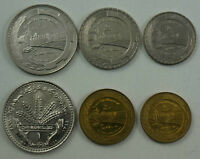 SYRIA 6 Coins 1968-1976 UNC Set FAO Issue Euphrates Dam