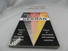 .s68. Vocabulary Builder: German: Master Hundreds of Com..good copy.