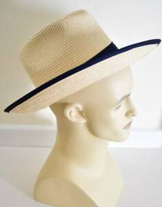 Unisex panama straw hat wide brim Dents