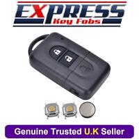 Nissan 2 Button Remote Key Fob Case Repair Kit Fits Micra Xtrail Qashqai Juke