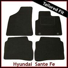 Hyundai Santa Fe Mk2 2006-2009 5 plazas a medida Alfombras coche tapetes negro