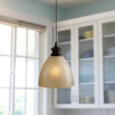 Modern Pendent Light Hanging Ceiling Lamp Lighting Fixture w/ Linen Glass Shade