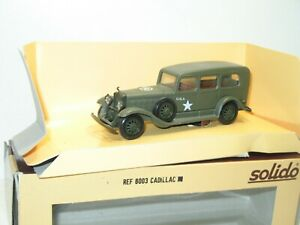 Solido Car Military Cadillac Hq. IN Box