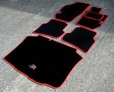 NERO / ROSSO TAPPETINI AUTO-Seat Ibiza 6J (2008-17) + FR LOGO + TAPPETO PAD + Boot MAT