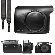Black PU Leather Carry Bag Case Cover For Fujifilm Instax WIDE 300 Film Camera
