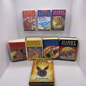 Harry Potter Books Set 1-7 Bloomsbury Hardback & Paperback All 1st Editions