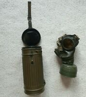 ORIGINAL WW2 GERMAN GAS MASK GM38, RUBBER, 1941 WEHRMACHT WITH STAMPS, FILTER
