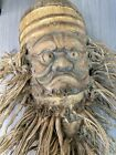 """Vintage Chinese Bamboo Root Old Man w/ Long Beard Hand Carved Wood 15"""" Sculpture"""