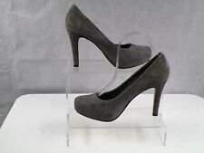 ASOS Womens Grey Court Leather Suede Stiletto High Heels Casual Shoes UK Size 6