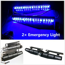 Blue 32LED Car Sun Visor Windshield Emergency Traffic Advisor Strobe LED Lights